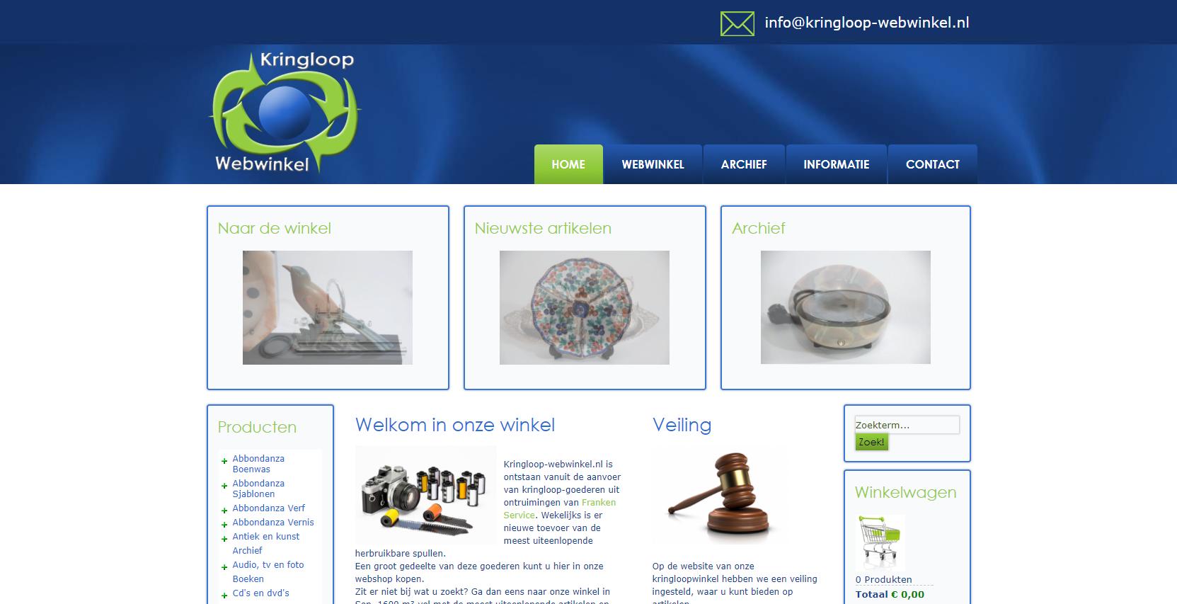 Harp webdesign kringloop webwinkel - Home decorating websites gallery ...
